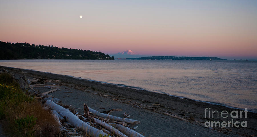 Rainier Photograph - Northwest Evening by Mike Reid