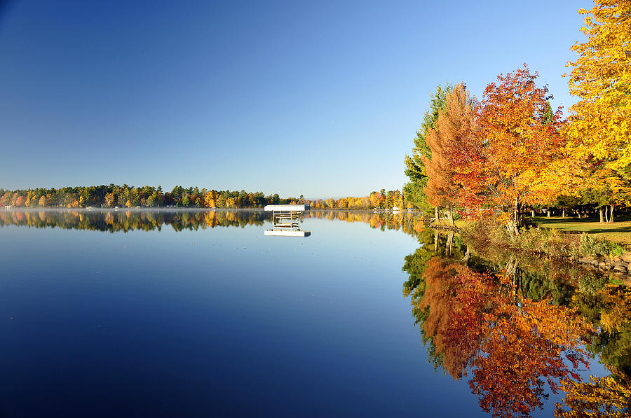Fall Photograph - Northwoods Fall Reflection by RJ Martens