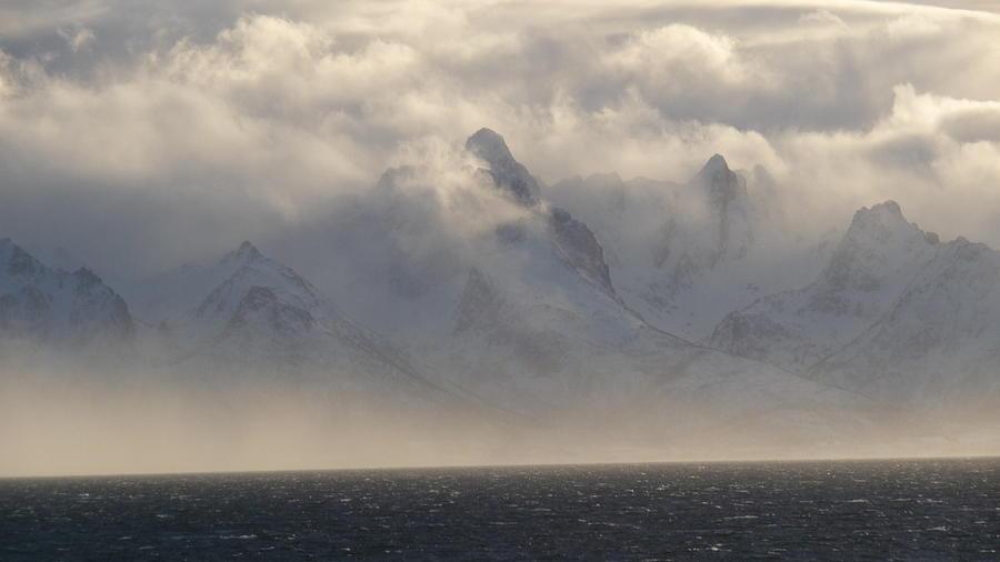 Norway Photograph - Norwegian Arctic Hills by Christopher Mullard