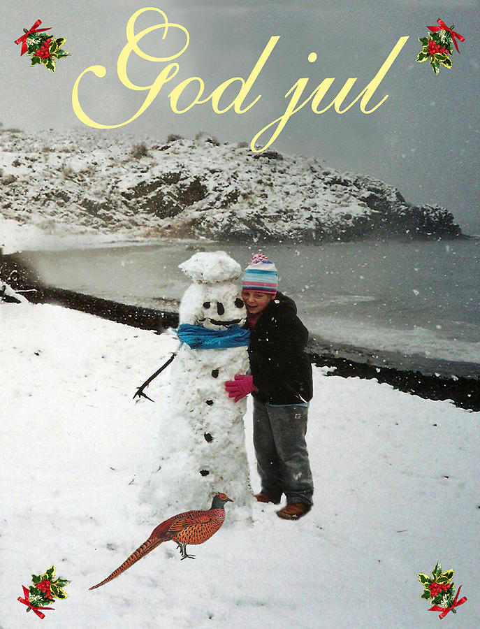 Merry Christmas In Norwegian.Norwegian Christmas Card Eftalou Beach Merry Christmas God Jul
