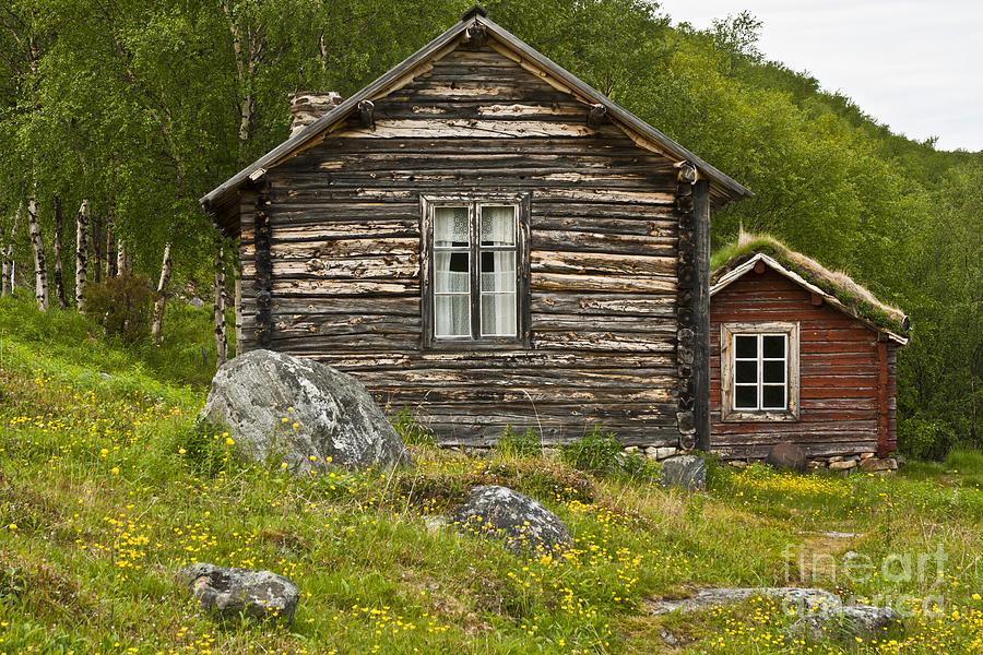 Europe Photograph - Norwegian Timber House by Heiko Koehrer-Wagner