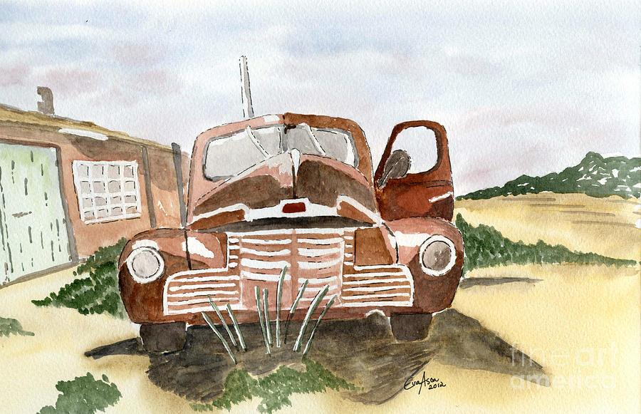 Car Painting - Nostalgic by Eva Ason