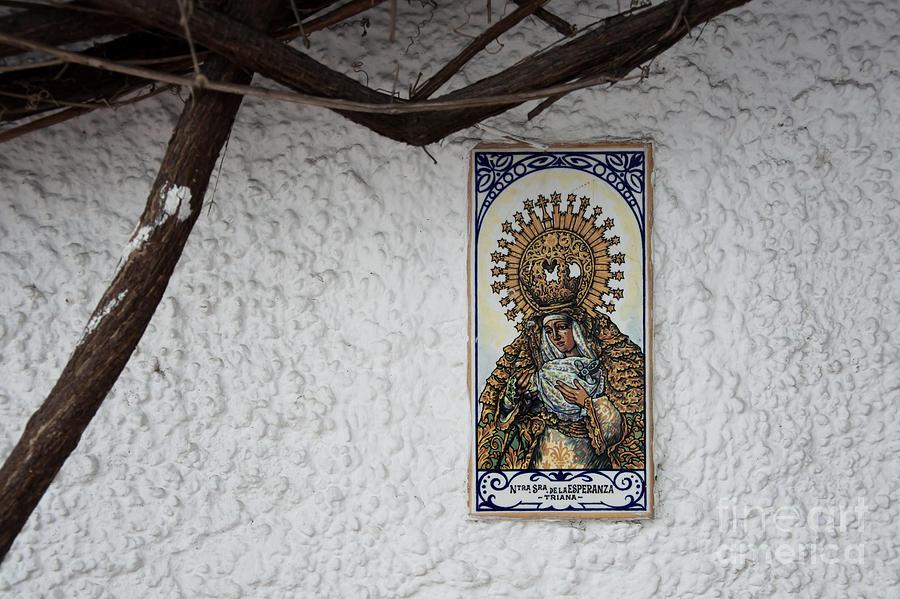 Ceramic Tile Photograph - Nostra Senora by Agnieszka Kubica