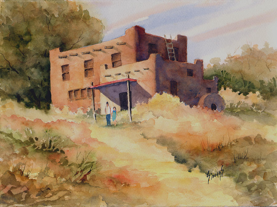 New Mexico Painting - Not Far From Espanola by Sam Sidders