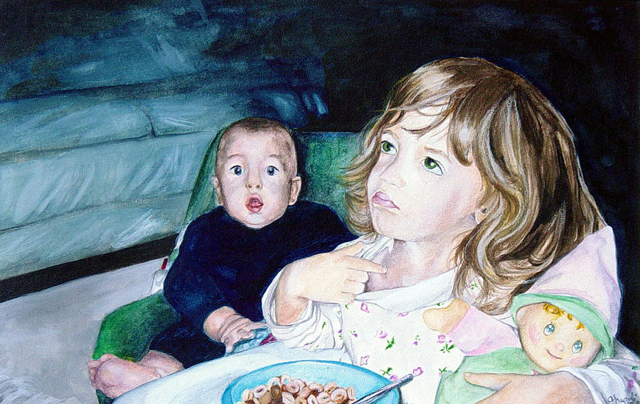 Children Painting - Not Me by Ann Marie Napoli