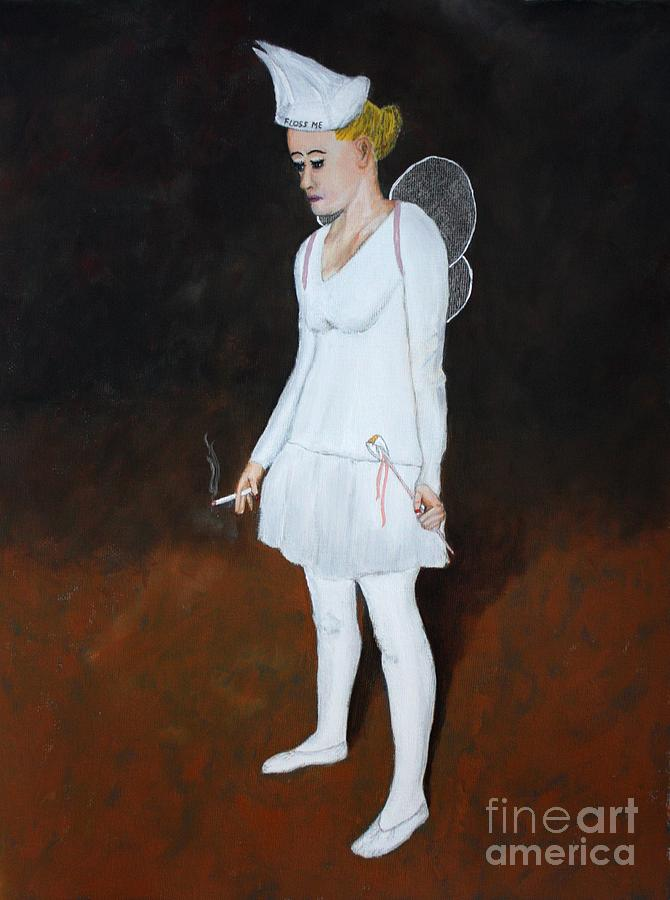 not the real tooth fairy painting by ralph lecompte. Black Bedroom Furniture Sets. Home Design Ideas