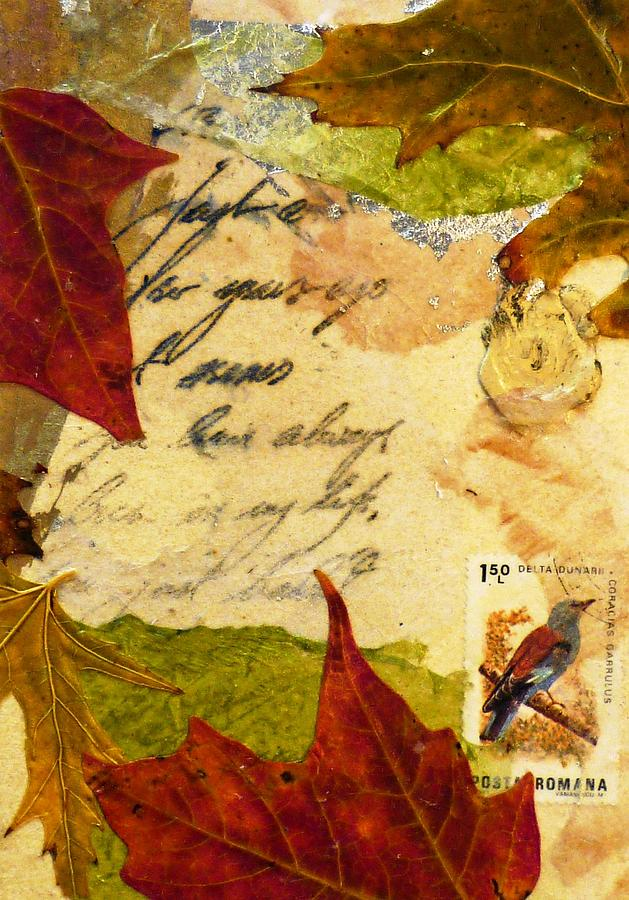 Nature Mixed Media - Note From Nature by Phillip  Jaeger