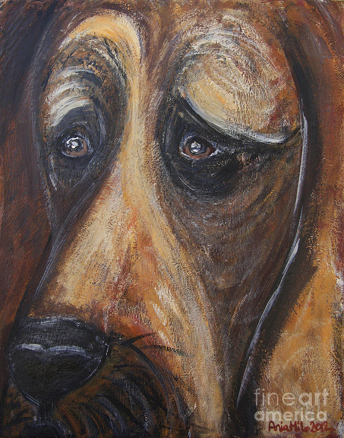 Animal Painting Painting - Nothin But A Hunddog by Ania M Milo
