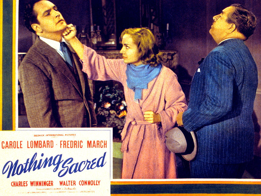 1930s Movies Photograph - Nothing Sacred, Fredric March, Carole by Everett