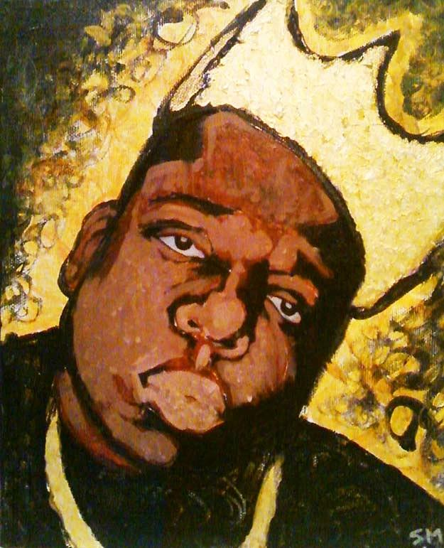 notorious big painting painting by sam miller
