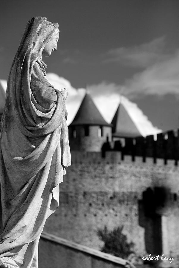 Castle Photograph - Notre Dame Carcassonne by Robert Lacy