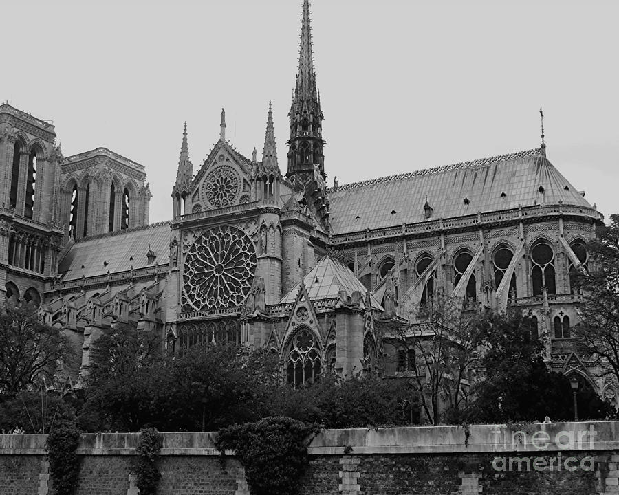 Notre Dame In Black And White Photograph By RL Rucker