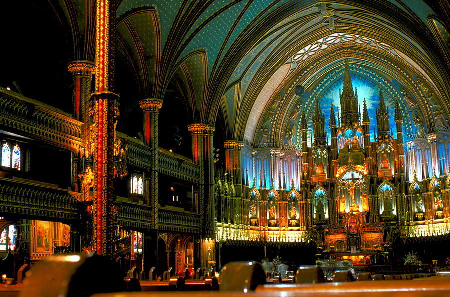 Church Photograph - Notre Dame In Montreal by Carl Purcell