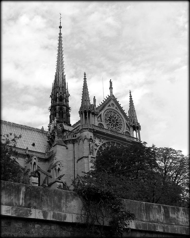 Notre Dame Spire and Rosettes by Carla Parris