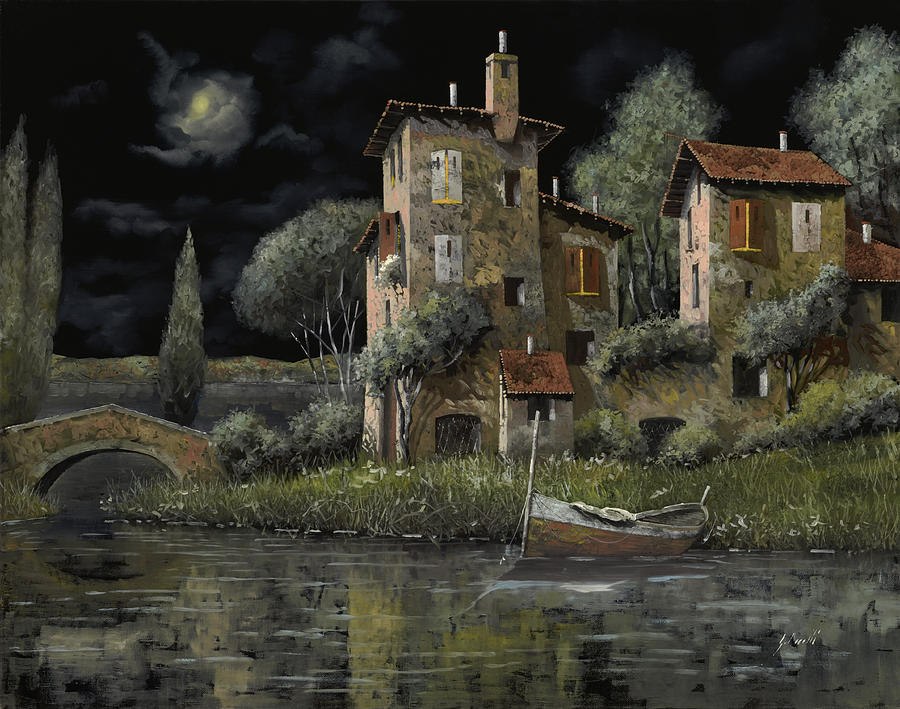 Notte Nera Painting By Guido Borelli
