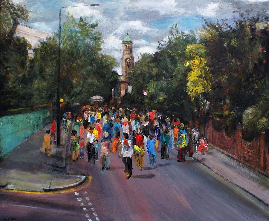 Carnival Painting - Notting Hill Carnival by Edward Ofosu