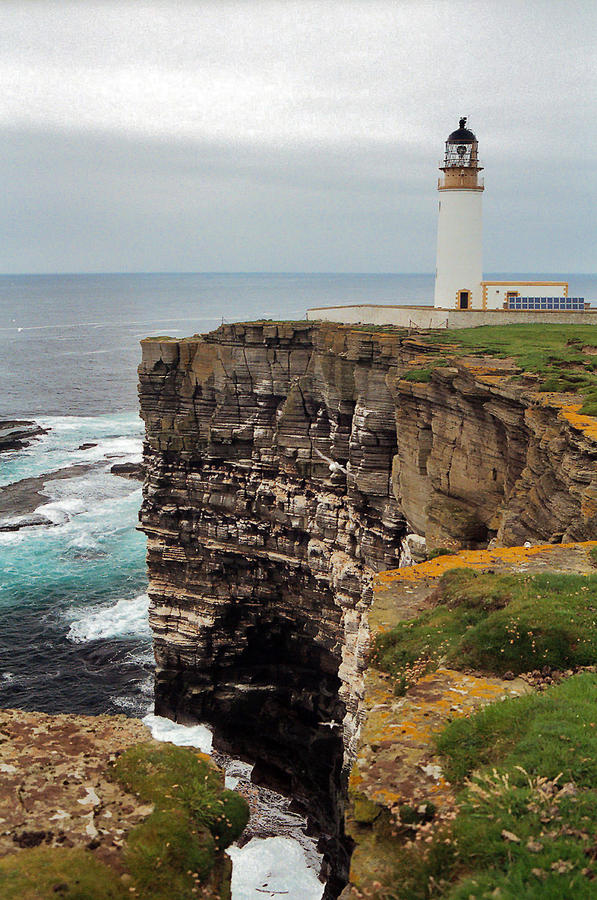 Lighthouse Photograph - Noup Head Lighthouse by Steve Watson
