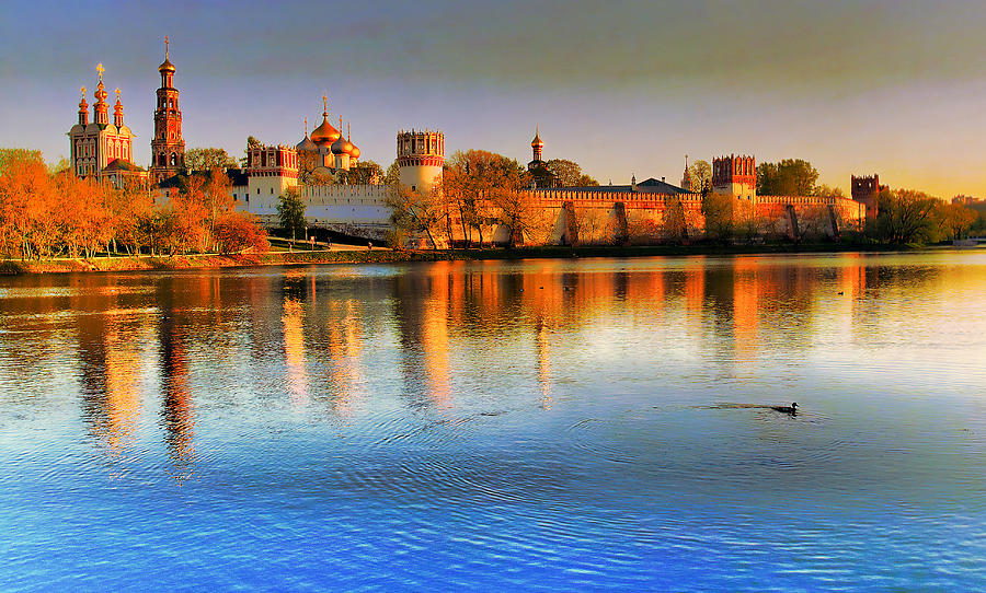 Ancient Photograph - Novodevichy Convent by Michael Goyberg