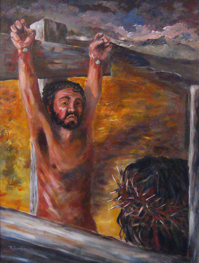 Crucifixion Painting - Now I Know by George Richardson