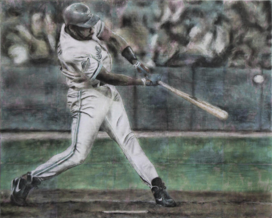 Joe Carter Painting - Now The 2-2... by Chris Ripley
