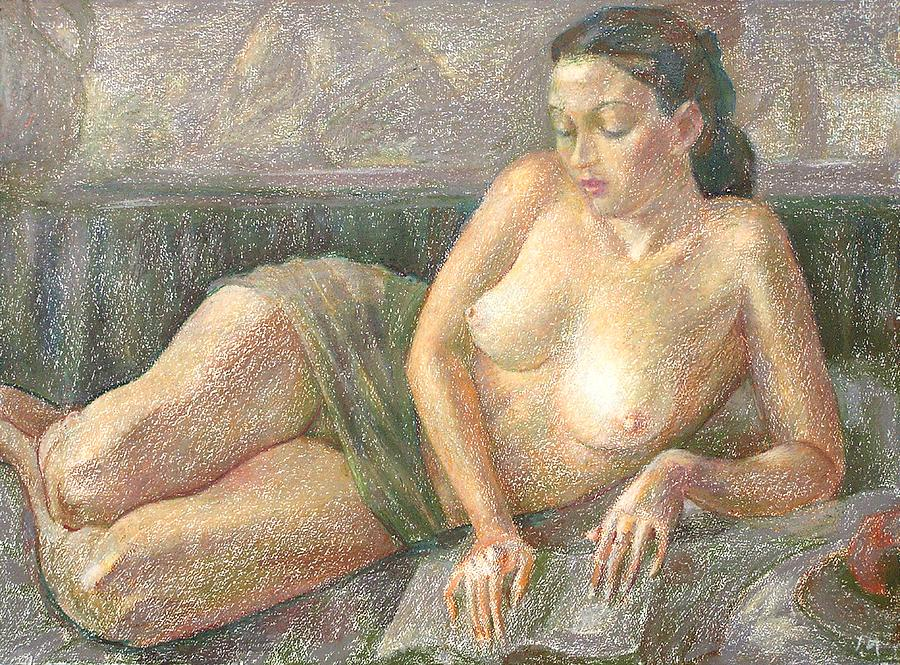 Nude Painting - Nu 28 by Leonid Petrushin
