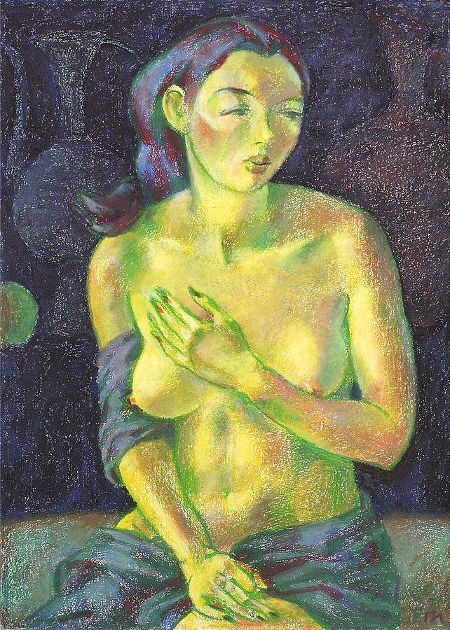 Nude Painting - Nu 56 by Leonid Petrushin