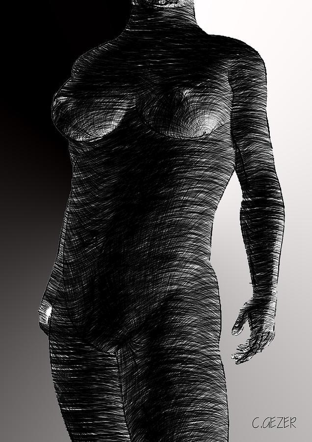 Nu Digital Art - Nu by Gezer Coskun