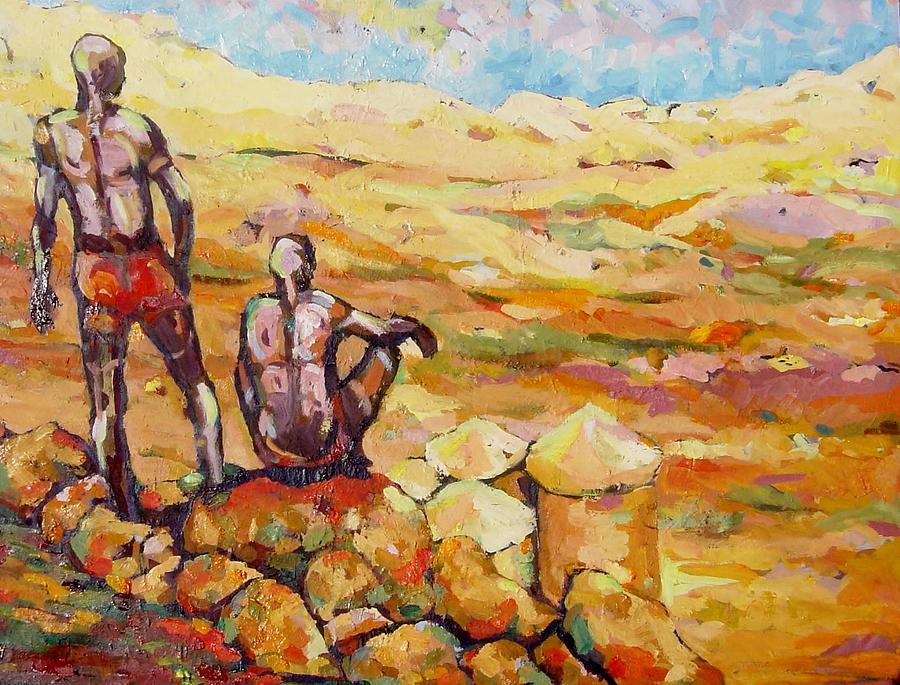 Landscape Painting - Nuba Hills  by Negoud Dahab