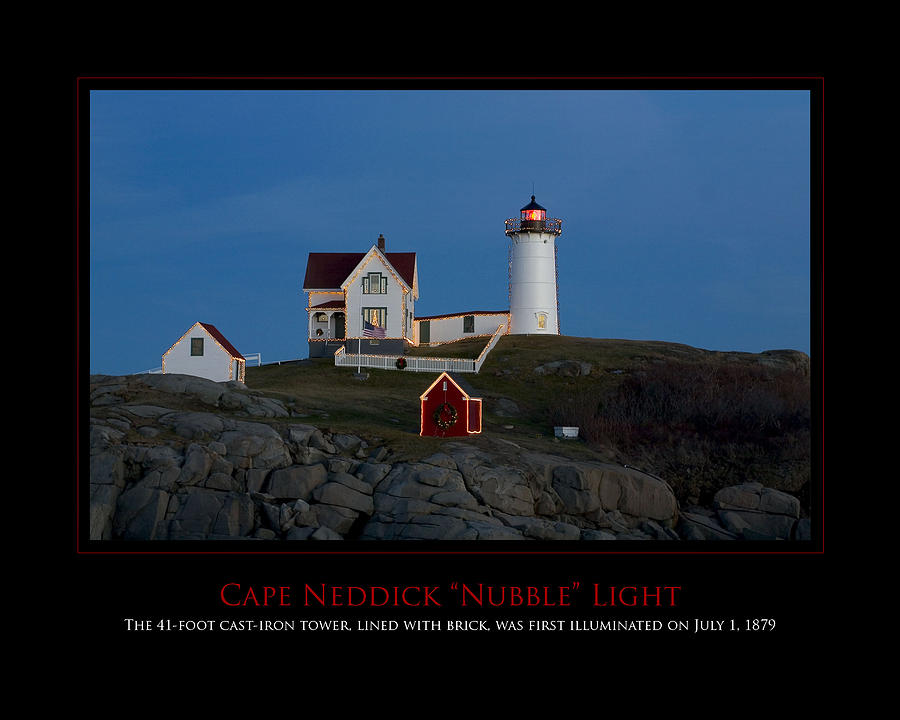 Maine Photograph - Nubble Light by Jim McDonald Photography