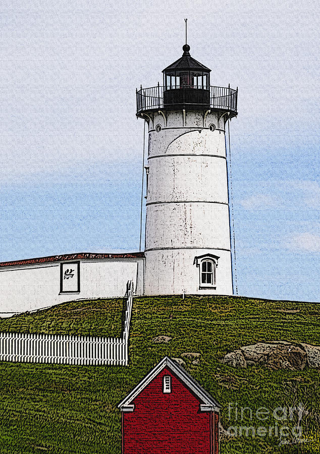 Cape Photograph - Nubble Lighthouse- Canvas by Luke Moore