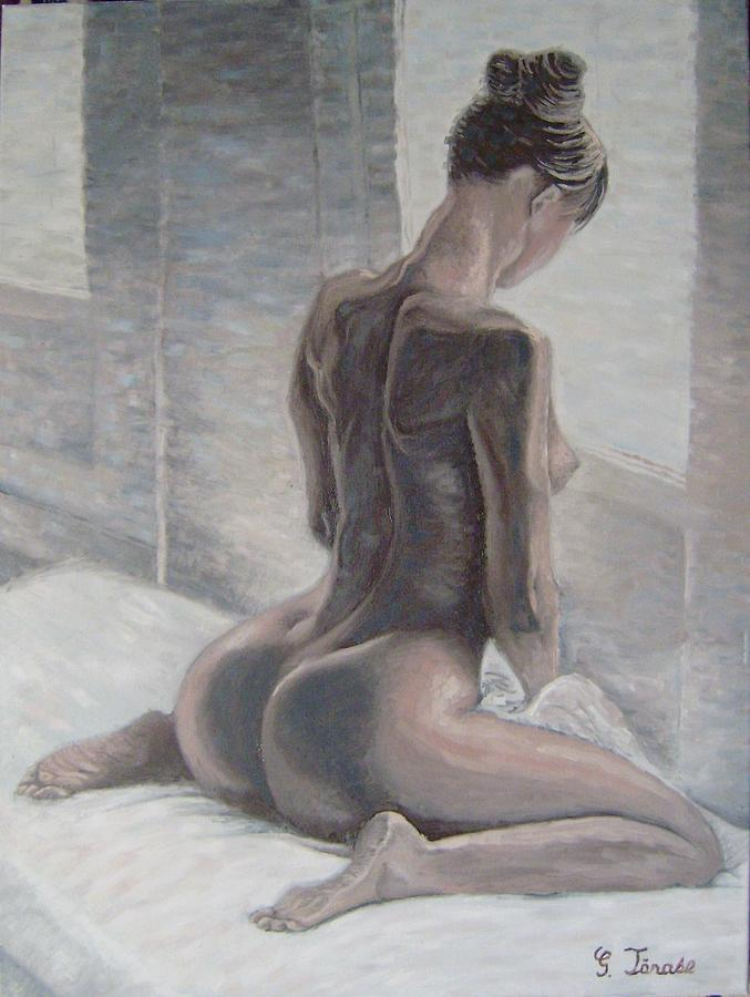 Nude Painting Nud La Fereastra By George Tanase