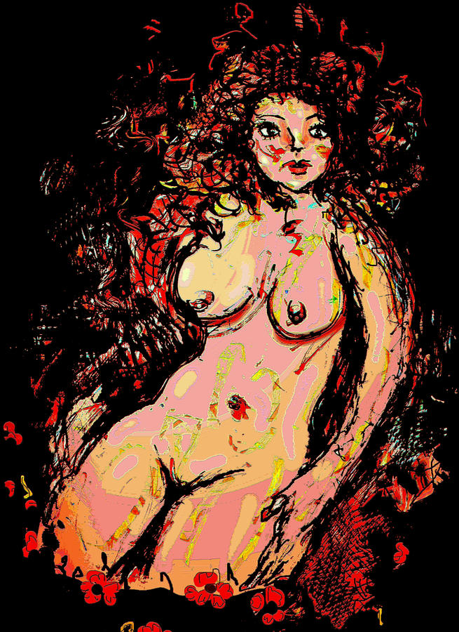 Nude Mixed Media - Nude 8 by Natalie Holland