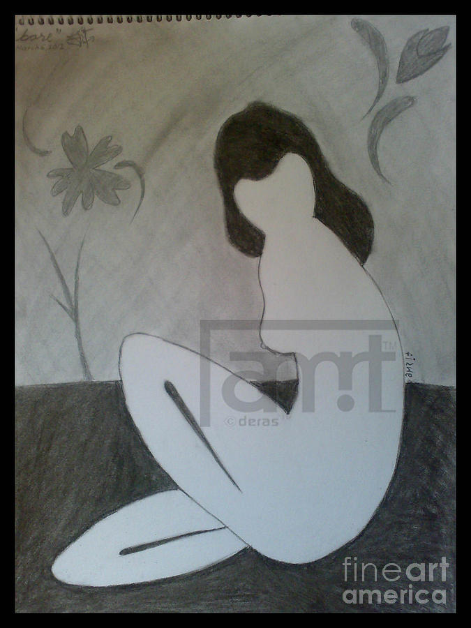 Nude Drawing by Amwrit Puri