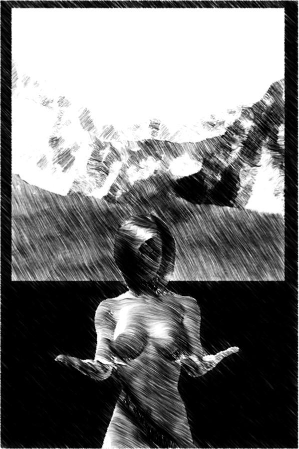 85c9339c4cd8 Nude Digital Art - Nude Landscape 02 by Peter Cochran