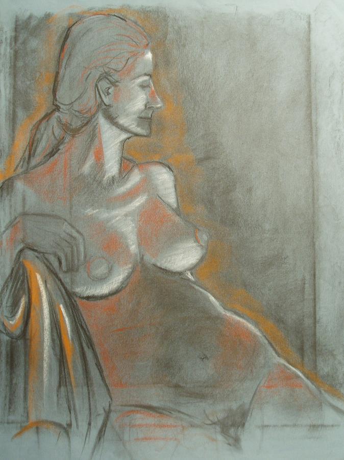 Figurative Drawing - Nude Model  by Aveda Allen