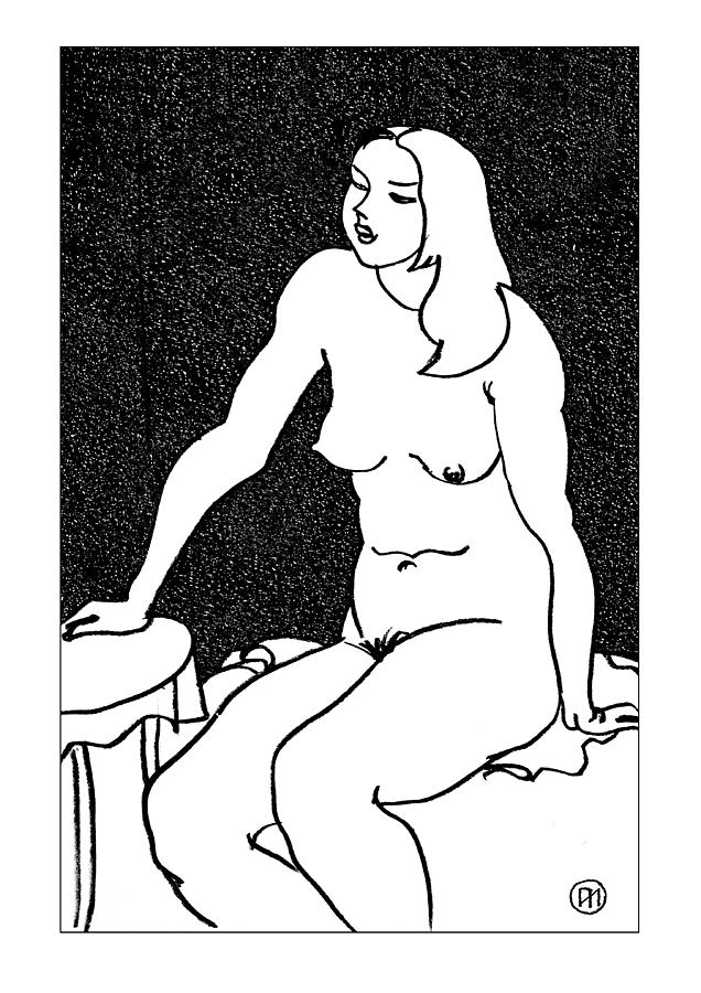 Nude Drawing - Nude Sketch 34 by Leonid Petrushin