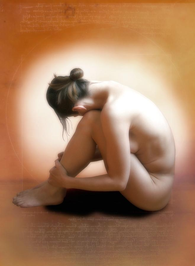 Nude Woman Sitting Down Photograph By Miriam Maslo-9823
