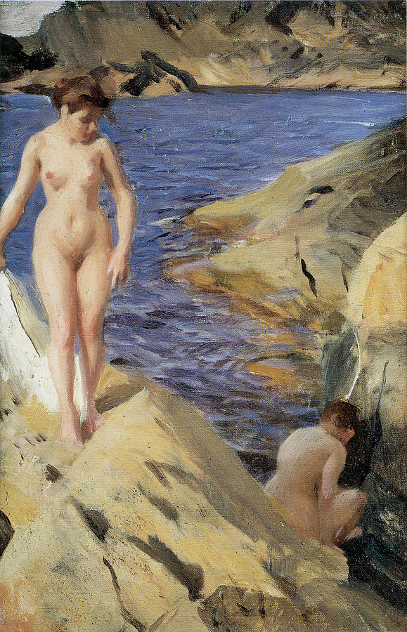 Anders Zorn Painting - Nudes by Anders Zorn