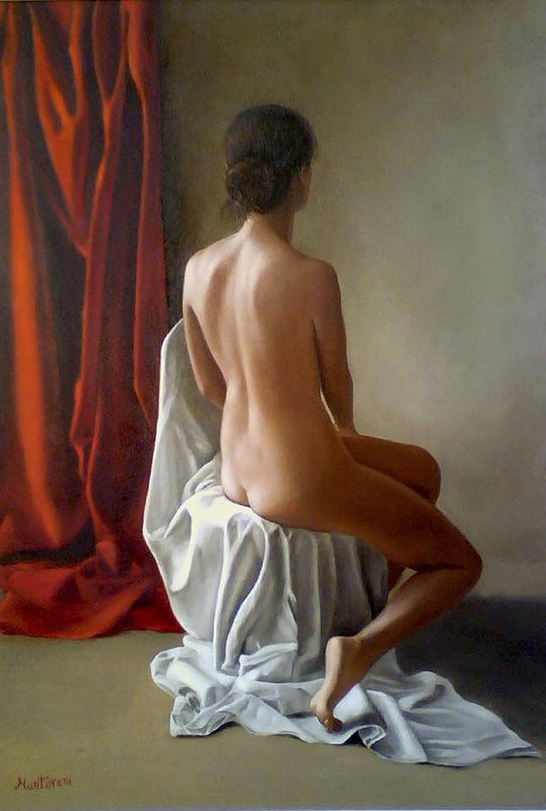 Nudo Di Schiena Painting by Gianluca Mantovani