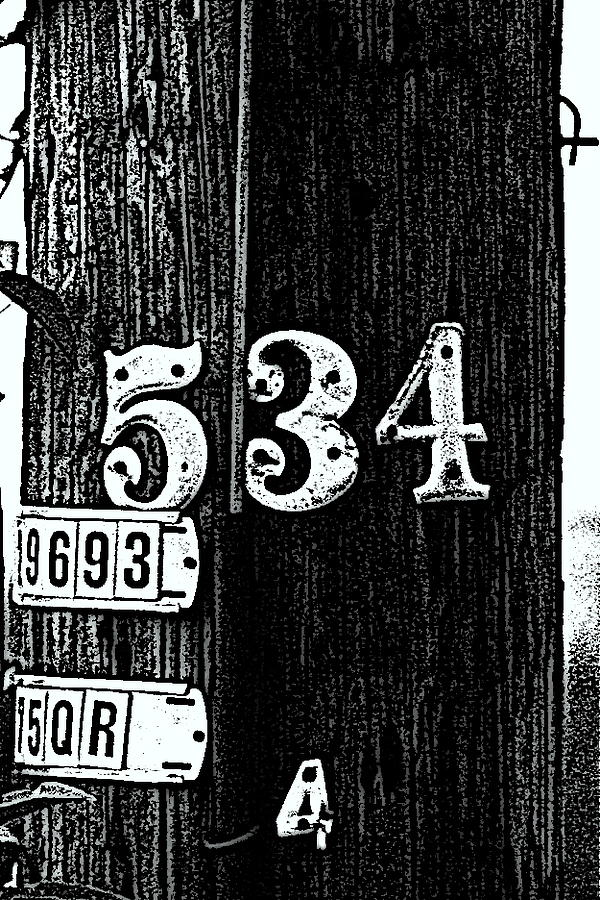 Night Photograph - Numbers by Bret Worrell