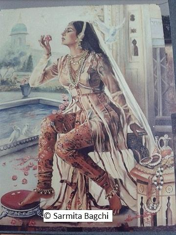 Various Moods Of Women Painting - Nur Jahan by Sarmita Bagchi