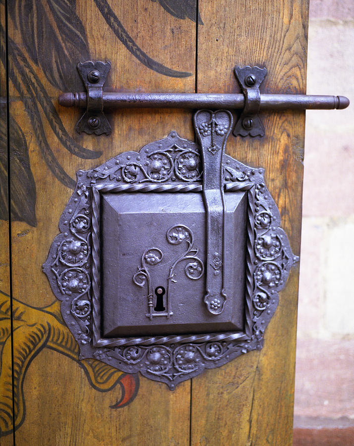 Nuremberg Castle Photograph - Nuremberg Castle Door Lock by John Bowers