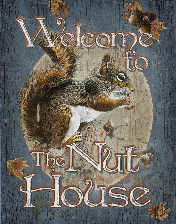 Wildlife Painting - Nut House by JQ Licensing