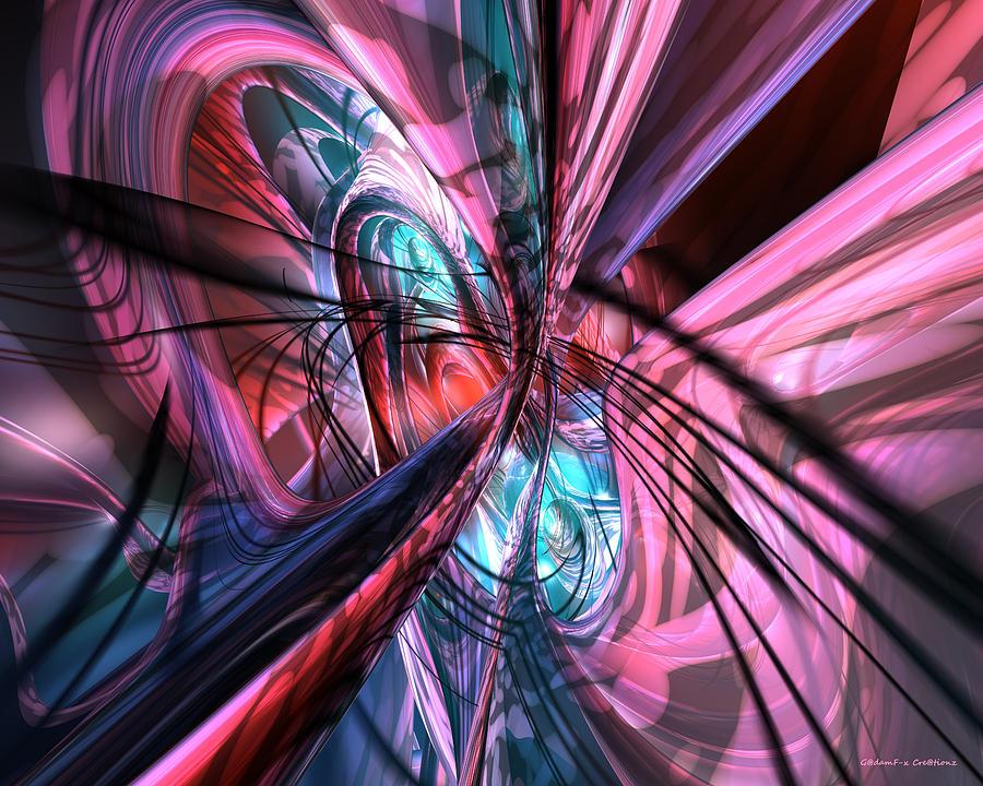 Print Digital Art - Nutron Flow Fx by G Adam Orosco