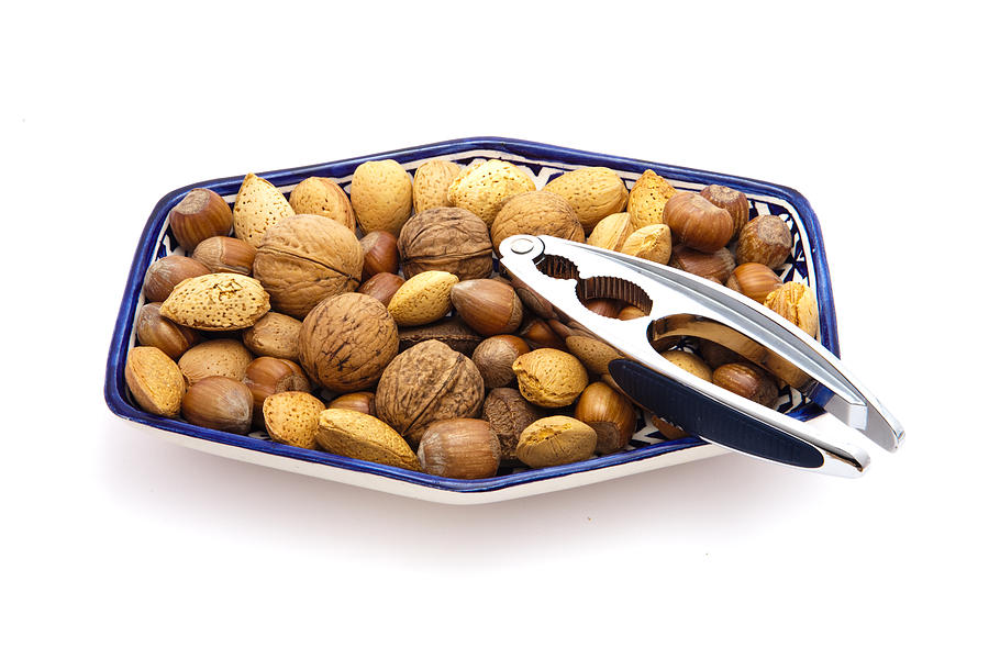Almond Photograph - Nuts by Tom Gowanlock