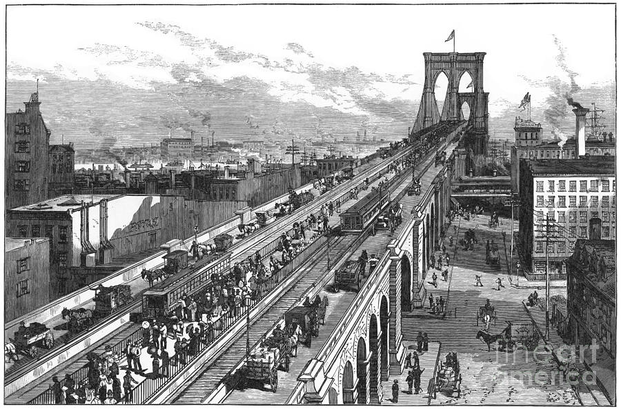 how to store photos from iphone ny bridge 1883 photograph by granger 1883