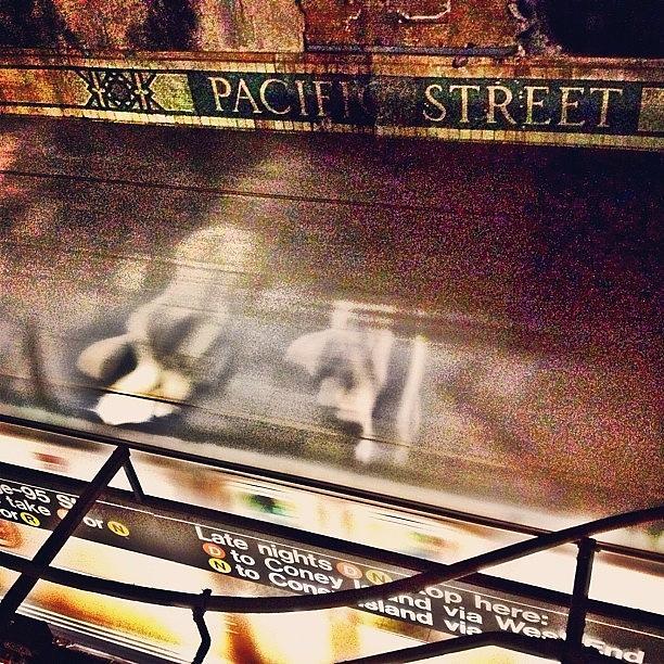 Newyorker Photograph - #ny #metro #subway #station #train by Joel Lopez