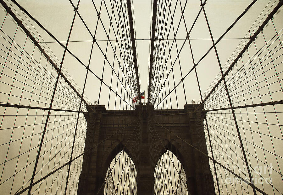 Ny Photograph - Nyc- Brooklyn Brige by Hannes Cmarits