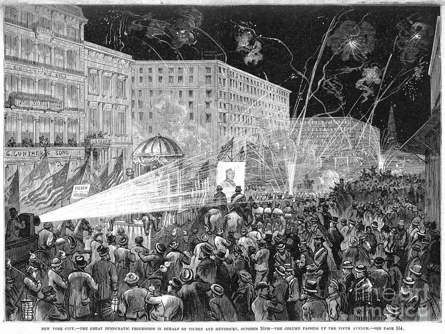 1876 Photograph - Nyc: Democrat Parade, 1876 by Granger