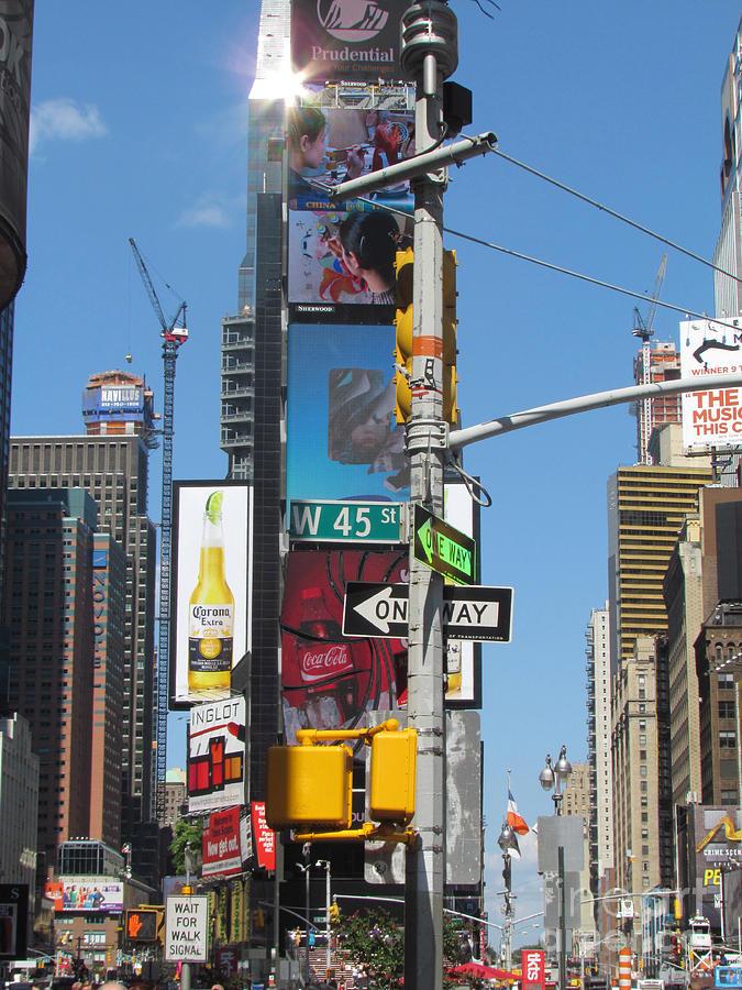 Times Square Photograph - Nyc Directions by Randi Shenkman
